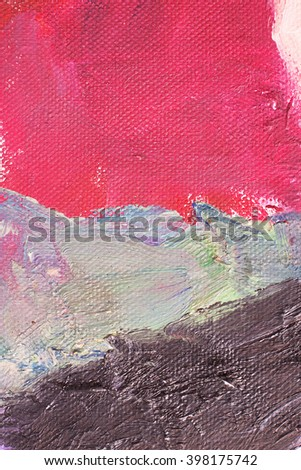 Colored canvas with oil paints. Bright saturated abstract background, space for text. The concept of a creative atmosphere, artistic events, education, etc. - stock photo