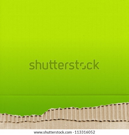 colored cardboard background paper texture - green - stock photo