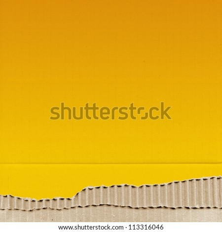 colored cardboard background paper texture - yellow - stock photo