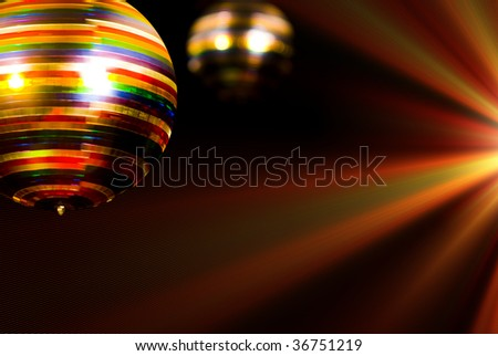 Colored disco ball - stock photo