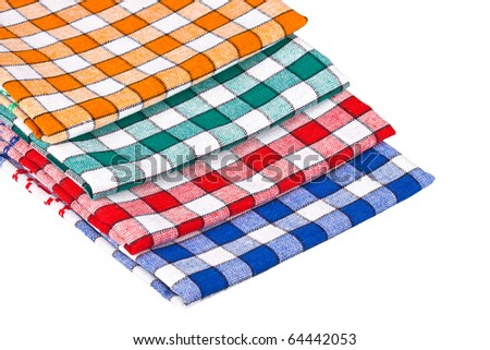 Colored dishcloths isolated on a white background