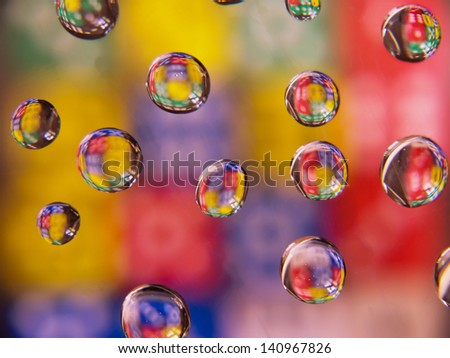 Colored Droplets - stock photo