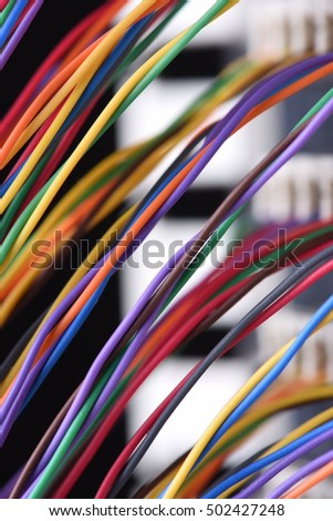 Colored Electrical Wire Panel Used Telecommunication Stock Photo ...
