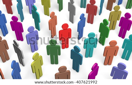 Colored figures of people. Available in high-resolution and several sizes to fit the needs of your project.3d