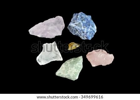 Colored gemstone jewelry - stock photo