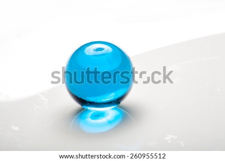 Colored glass bead - stock photo