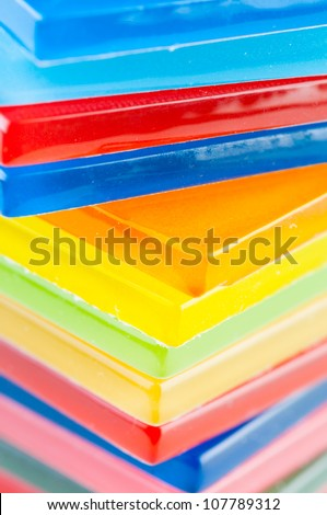 colored glass tiles - stock photo