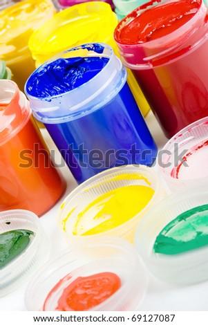 Colored gouache - stock photo
