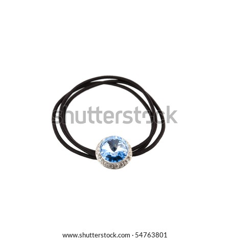 colored hair-pin isolated on white - stock photo