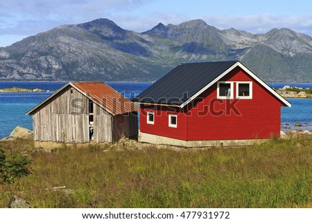 colored house on the Fjord