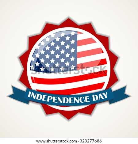 Colored Independence Day Poster. 4 July.  Illustration