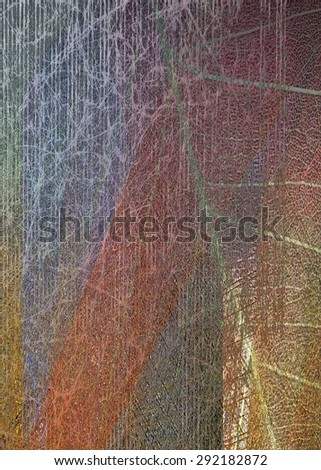 Colored leaf background - stock photo