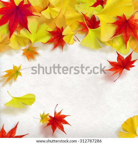 Colored leaves Illustration - stock photo