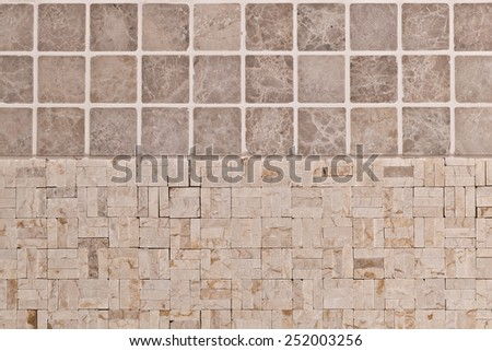 Colored light brown ceramics mosaic
