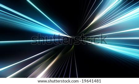Colored light streaks - stock photo