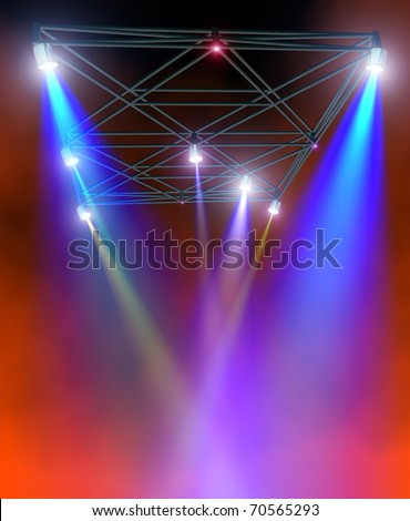 Colored lighting - stock photo