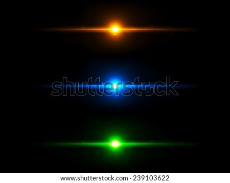 Colored lighting effects - stock photo
