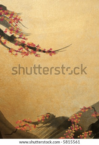colored maple leaves - stock photo