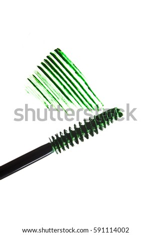 Colored mascara white background texture smudged isolated