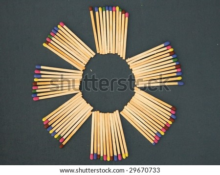colored matches