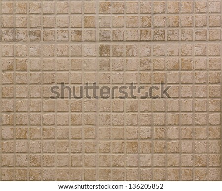 Colored mosaic background tiles in a SPA bathroom - stock photo
