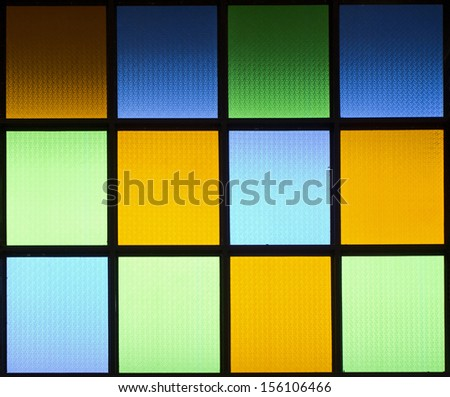 colored of glass window - stock photo