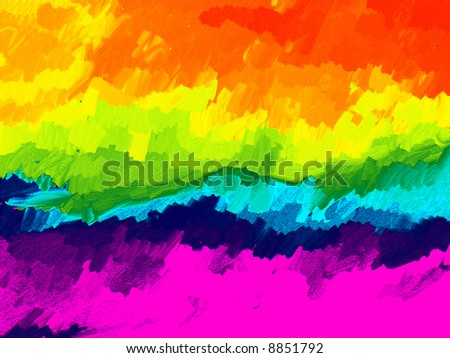 Colored Oil Painted Background - stock photo