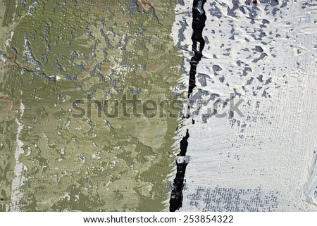 colored paint on canvas - stock photo