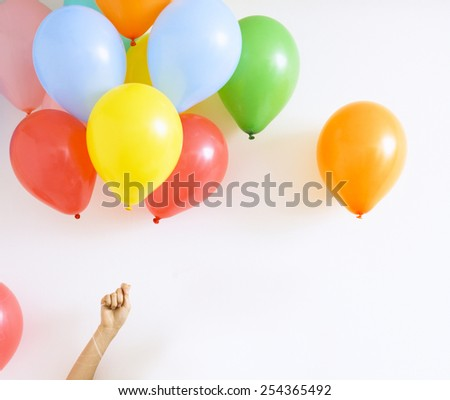 colored party balloons - stock photo