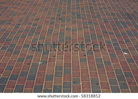 colored pavement - stock photo