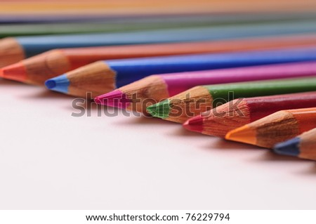 Colored Pencils 1 - stock photo