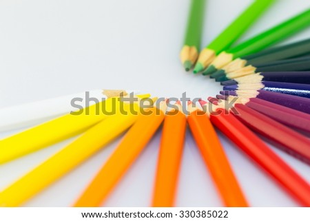 colored pencils for beautyful drawings - stock photo