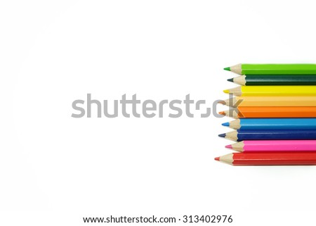 Colored pencils  for presentation