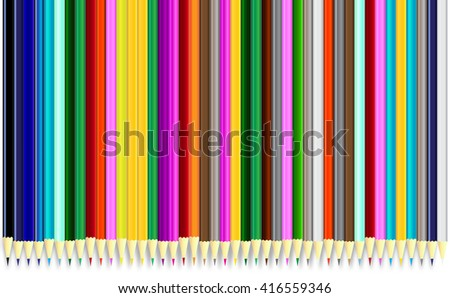 colored pencils, with colorful colored pencils, with a close up shot of the colored pencils, used as background of the colored pencils, with illus design of the colored pencils - stock photo