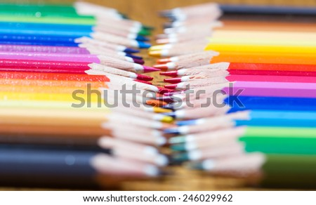 colored pens - stock photo