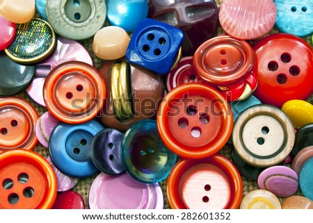Colored retro buttons background