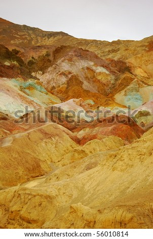 Colored Sand vertical - stock photo