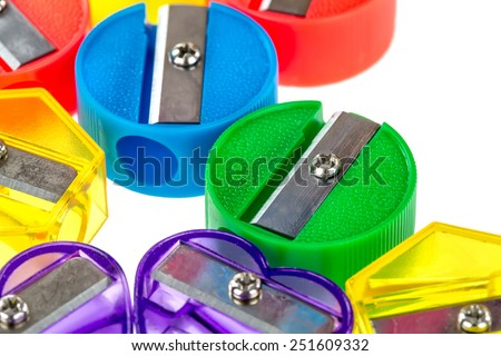 Colored sharpeners - stock photo