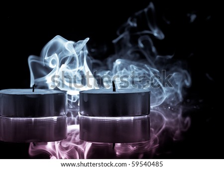 Colored Smoke From Blown Out Tea Candles