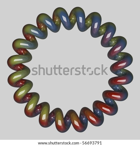 Colored Spiral - stock photo