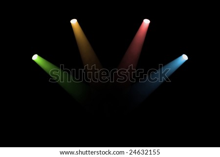 Colored spotlights - stock photo