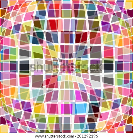 colored squares background. Raster - stock photo