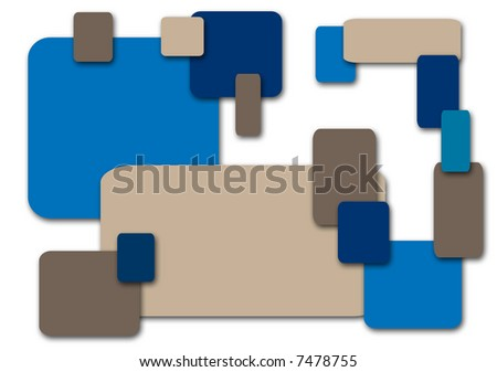 Colored squares in retro colors on white. - stock photo