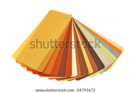 colored standards - stock photo