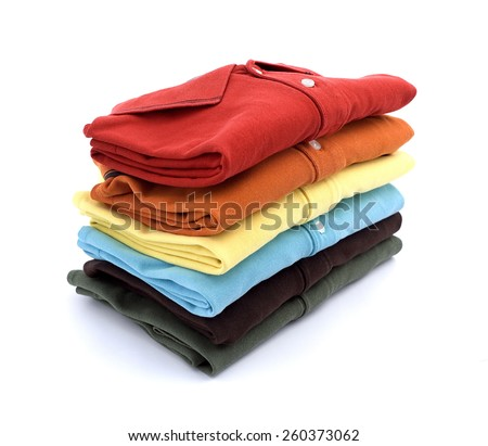 Colored T-shirts - stock photo