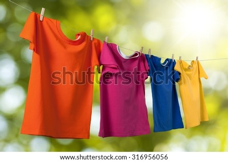 Colored T-Shirts.