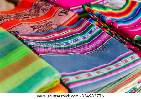 Colored textile - stock photo