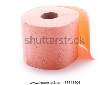 Colored toilet paper roll - stock photo