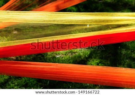 Colored Tulle - stock photo