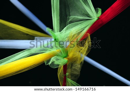 Colored Tulle Knot - stock photo